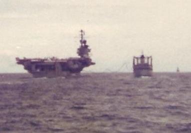 An Oiler Refueling an Aircraft Carrier March 1979