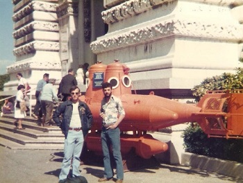 Duane is on the right. At the Oceanographic Museum in Monaco May 4, 1979